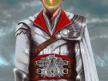 Ezio Auditore in a reimagining of the famous painting by Magritte