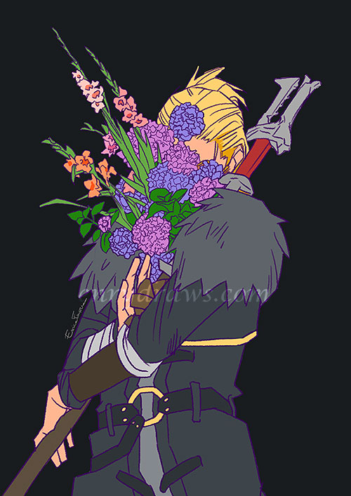 hydrangea and gladiolus for persistence and strength anders dragon age
