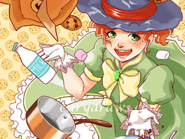 manga girl majokko cookies chocolate