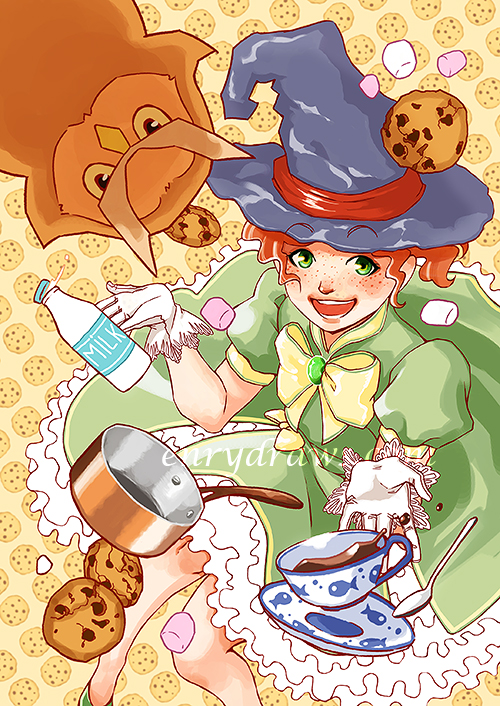 manga girl majokko cookies chocolate