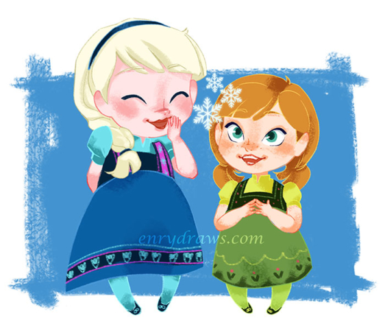 Elsa and Anna from Frozen