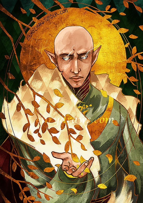 romanced Solas tarot card dragon age inquisition bioware