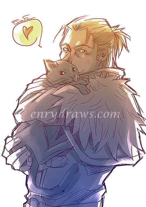 Anders with a cute kitty