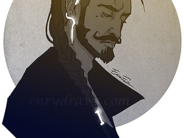 Dorian Pavus with long hair